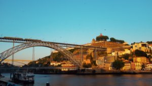 Three days in Porto - Ponte Dom Luis sunset