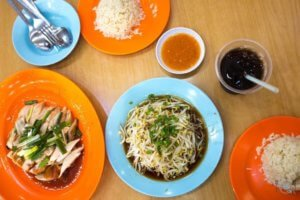 Best food in Ipoh - Chicken and Beansprouts